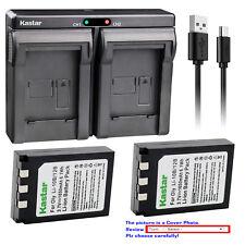 Kastar Battery Dual Charger for Olympus Li-10B Li-12B & Olympus Li-10C Li-10CN
