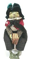 VINTAGE DET. 56 HANDCRAFTED DOLL FROG BY  CREATED BY ARTIST MARYLISA CHESNUTT