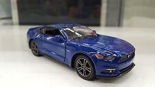 2015 FORD MUSTANG GT bleu kinsmart Jouet miniature 1/38 à l'échelle cadeau