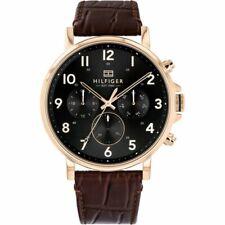 Brand New Tommy Hilfiger Daniel Leather Day Date Mens Designer Watch 1710379