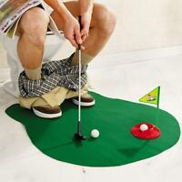 Toilet Mini Golf Set Potty Putter Funny Bathroom Putting Game Golf Trainer Toy