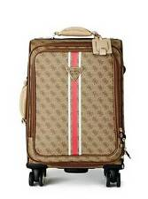 """NEW GUESS $170 LOGO SPORT 18"""" 8-WHEEL SPINNER SUITCASE CARRY-ON LUGGAGE"""