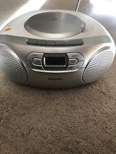 Philips AZ127 CD Soundmachine White Tape Cassette Radio Working Boombox Portable