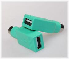 USB auf PS2 Adapter PS/2  Stecker auf USB Buchse grün USB Combo Maus Tastatur