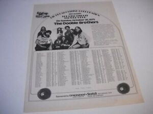 DOOBIE BROTHERS on KING BISCUIT FLOWER HOUR original 1975 Promo Poster Ad