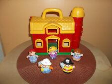 Fisher Price Little People Barn Farm Red and yellow Play House Lot RARE!