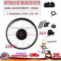 "28"" 36V 250W e-bike conversion kit Electric Bike rear Motor for rear wheel w/LCD"