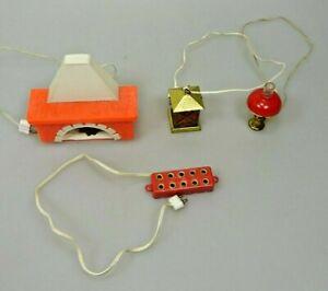 Puppenstube Elektrogeräte Kamin Laterne Petroleumlampe Steckdosenleiste Vintage