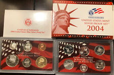 2004 US Mint Silver Proof Set Complete With Box And Coa State Quarters