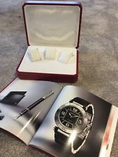 Cartier Three Watch Display Box and Cartier 30+ page booklet