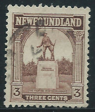Newfoundland #133(8) 1923 3 cent brown WAR MEMORIAL Used