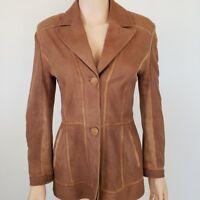Bella Bicchi Womens Suede Blazer Jacket Size Small