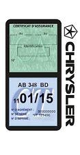Porte vignette assurance CHRYSLER double étui voiture Stickers auto rétro