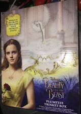 Disney Beauty and the Beast Movie Diy Plumette Feather Trinket Box - Brand New