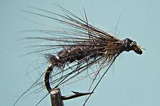 5 x Mouche peche Noyée Noire Dadat H10 fliegen mosca