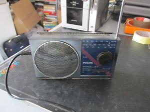 Radio Portatile Vintage Philips D-2010 Funzionante