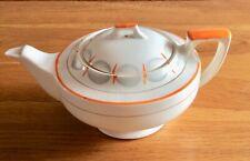 More details for vintage .. myott teapot. art deco style... orange-grey-cream colour.