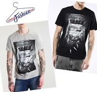 Diesel Men's T-JOE-OA T-Shirt Grey & Black. Size- S, M, L, XL, 2XL. RRP: £90.00