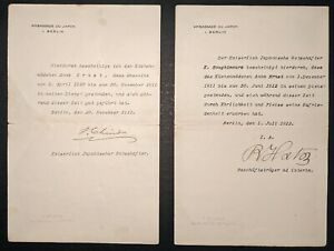 JAPAN DIPLOMATS UNITED STATES CHERRY BLOSSOMS AUTOGRAPH GERMAN LETTER 1911-12