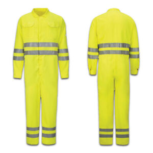 Bulwark Flame Resistant Clothes FR Nomex Blend Reflective Coveralls Work Uniform