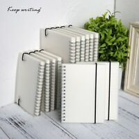 Spiral Coil Notebook Lined Blank Grid Paper Journal Diary Sketchbook For School
