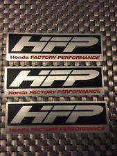 "HFP Honda Factory  RACING DECALS STICKER 5x1.5 INCH ""FREE SHIPPING"" nhra Offroad"