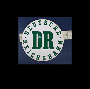 Aufkleber DR Deutsche Reichsbahn DDR rund circa 10 cm weiß
