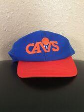 Vintage 90s Cleveland Cavaliers NBA Basketball Blue Orange Cap Hat