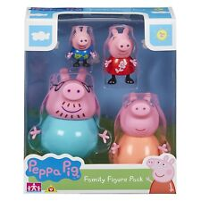 PEPPA PIG - PEPPA PIG FAMILY FIGURES SET - MUMMY, DADDY, GEORGE & PEPPA NEW
