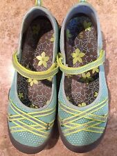 Girls Size 5 M.A.P. Mary Jane Lillith 3 Mint Green Casual or Sport Shoes - EUC