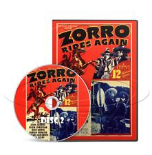Zorro Rides Again (1937) 12 Chapter Republic Movie Serial Cliffhanger (2 x DVD)