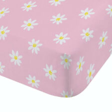 Catherine Lansfield Ditsy Daisy Double Fitted Sheet, Pink