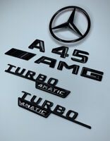 Mercedes A45 Gloss Black Badge Kit for 2013-2019 Star A45 AMG Wing W176