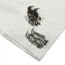 High Quality Cufflinks Penguins New Silver Pewter Handmade in England Penguin