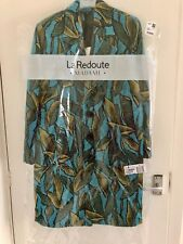 La Redoute Collections Blue Jacquard Leaf Print Coat - Size 6