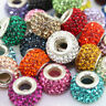 Czech Crystal 925 Silver Charms Spacer Beads 8*14mm Fit DIY Euro Chain Bracelets
