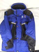 Marker 2002 Salt Lake City Utah Olympic Blue Winter Jacket Parka Coat Small