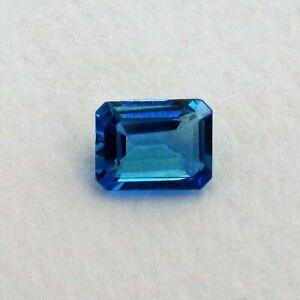 Sri Lankan Natural London Blue Topaz Octagon Cut 8mm x 6mm (10 pcs lot )
