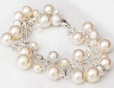 Wedding Pearl Bracelet - Delicate  Bridal Jewelry - Swarovski