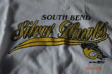 SOUTH BEND SILVER HAWKS BASEBALL T-SHIRT - SMALL - LADIES