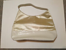 Fashion White and Gold faux snake skin purse large shoulder bag tote casual cute