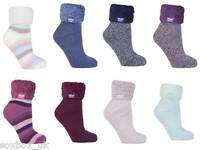 Heat Holders - Ladies Soft Fluffy Thermal Low Cut Lounge Bed Slipper Socks