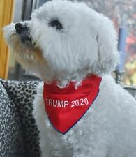 Embroidered Donald TRUMP 2020 Reversible Dog BANDANA All Sizes puppy President