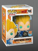 SS2 Vegeta 709 GLOW GITD Chase Funko Pop Vinyl New in Mint Box +PX sticker