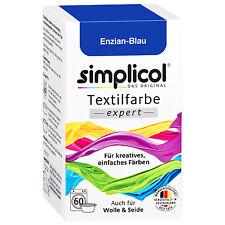 SIMPLICOL Textilfarbe EXPERT ENZIAN BLAU 150g Farbe auch für Wolle & Seide