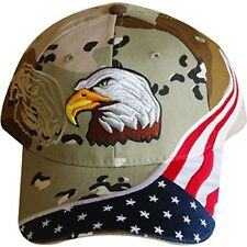 American Flag Hat - USA Eagle Baseball Cap with 100,000 Embroidery Stitches Camo