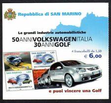 SAN MARINO 2004 Libretto Volkswagen SASSONE NR 7 TIMBRO PRIMO GIORNO