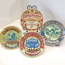 Coulommiers Camembert Cheese Plates Lot of 4 Cordon Bleu BIA
