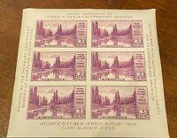 US Scott #750 Mount Rainier 3¢ Farley SS of 6 (1935)