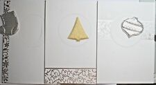 3 x A4 Dble Aperture Foiled Dble Fold Card Blanks White & Padded Aperture Shapes
